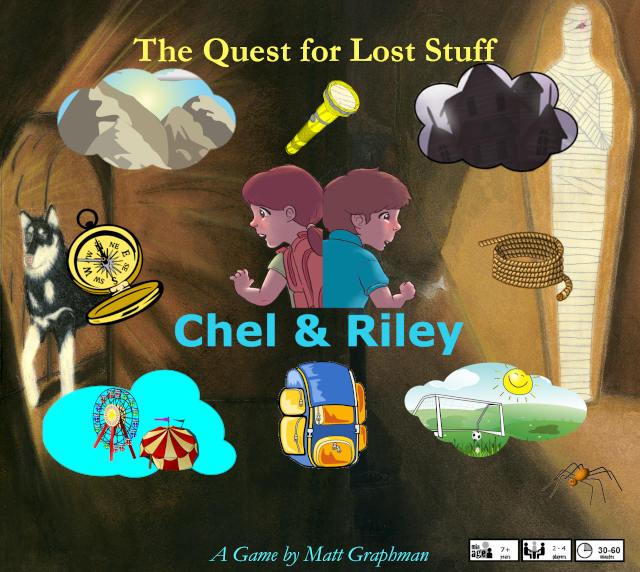 Chel & Riley Board Game Box